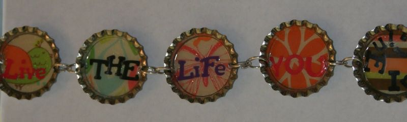 Long bottlecap bracelet